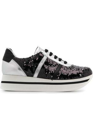 Tosca Blu Plateau-Sneakers mit Pailletten