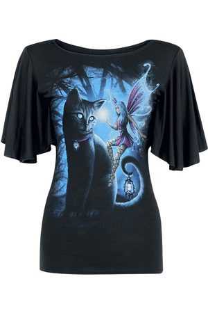 Spiral Cat And Fairy T-Shirt