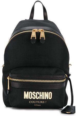 Moschino Rucksack mit Logo-Schild
