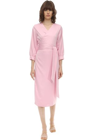 Aéryne Damen Kleider - Cowry Satin Wrap Dress