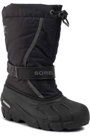 sorel Youth Flurry NY1965 Black/City Grey 016