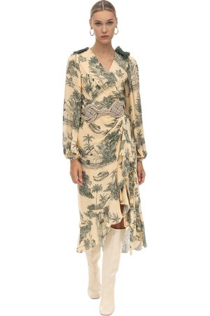 JOHANNA ORTIZ Damen Bedruckte Kleider - Printed Georgette Wrap Dress