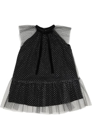 Oscar de la Renta Mädchen Kleider - Glitzerndes Tüllkleid