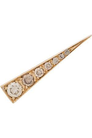 Daou Damen Ohrringe - 18kt 'Spark' Gelbgoldohrring mit Diamanten