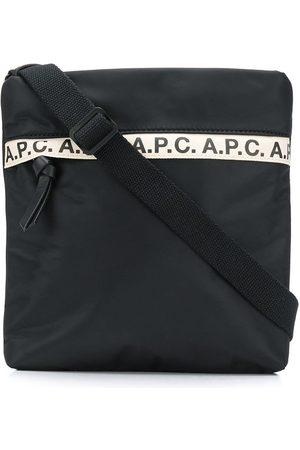 A.P.C. Herren Umhängetaschen - Kuriertasche mit Logo-Streifen
