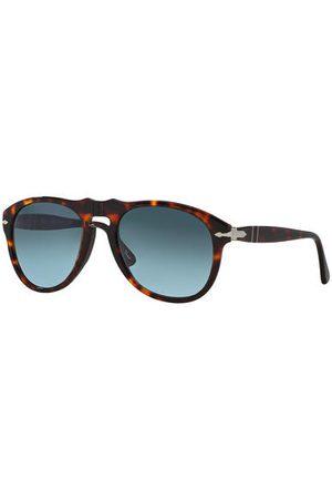 Persol Brillenform: Pilot. Inkl. Brillenetui und Brillenputztuch. Handmade in Italy. Maße bei Größe 54:- Gesamtbreite: 145 mm- Bügellänge: 140 mm- Glashöhe: 44 mm- Glasbreite: 54 mm- Stegbreite: 20 mm
