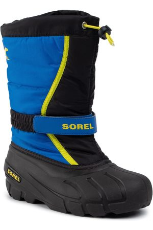 sorel Jungen Winterstiefel - Schneeschuhe - Youth Flurry NY1965 Black/Super Blue/Noir/Ultra Bleu 014
