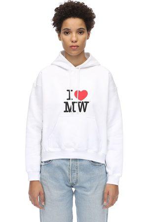 Vetements Kurzes Kapuzensweatshirt Aus Baumwolle