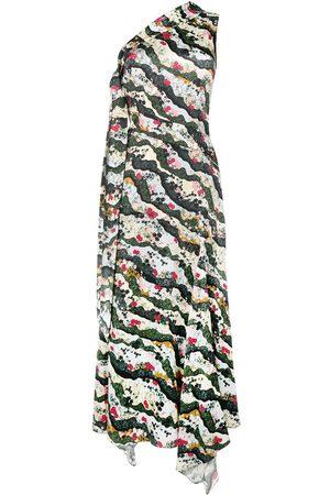 Erdem One-Shoulder-Kleid mit Blumen