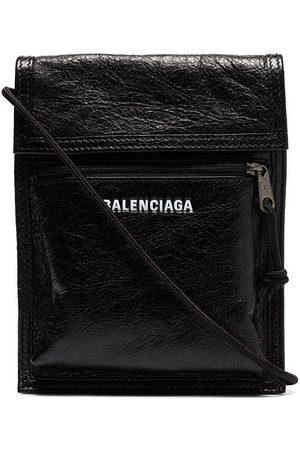 Balenciaga Explorer Arena cracked leather messenger bag