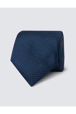 Hawes & Curtis Krawatten - Herren Krawatte | Seide Standardbreite Webmuster Marineblau |