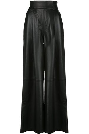 Skiim Amanda leather wide leg trousers