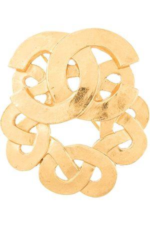 Chanel Pre-Owned Damen Broschen - Brosche mit CC