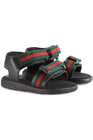 Gucci Sandalen mit Webstreifen