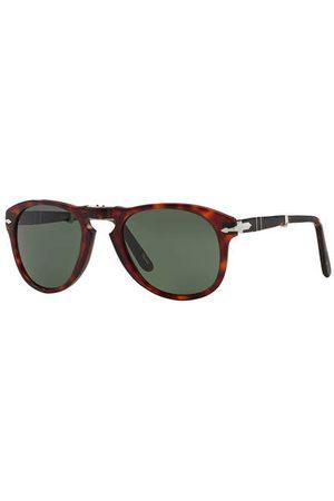 Persol Brillenform: Rund. Klappmechanismus an Steg und Bügeln. Inkl. Brillenetui. Made in Italy. Maße bei Größe 54:- Gesamtbreite: 145 mm- Bügellänge: 140 mm- Glashöhe: 46 mm- Glasbreite: 54 mm- Stegbreite: 21 mm