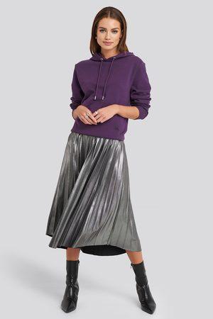 NA-KD Midi Pleated Skirt - Silver