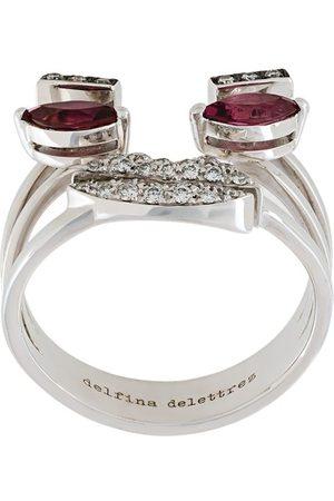 DELFINA DELETTREZ Damen Ringe - Weißgoldring mit Diamanten