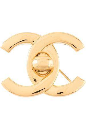 Chanel Pre-Owned Brosche mit CC Lock