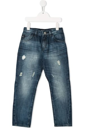 Emporio Armani Jungen Skinny - Skinny-Jeans im Distressed-Look