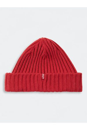 Levi's Ribbed Beanie - / Brilliant Red
