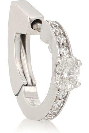 Repossi Einzelner Ohrring Harvest aus 18kt Weißgold mit Diamanten
