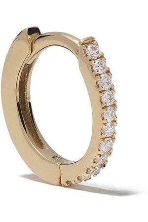 White Bird 18kt 'Margot' Goldcreole mit einem Diamanten