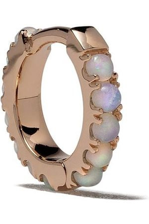 White Bird 18kt Rotgoldcreole mit Opal