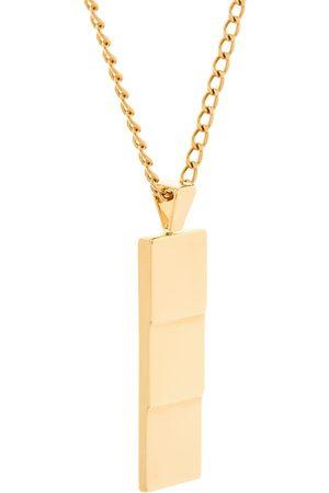 NORTHSKULL Herren Halsketten - Vergoldete 'Layers' Halskette mit Anhänger