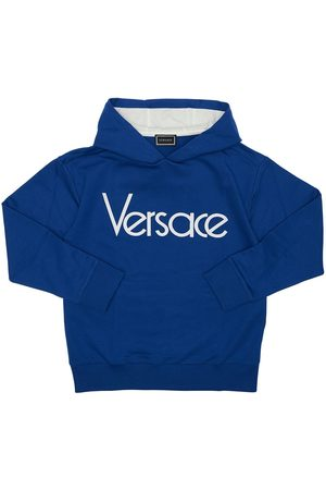 VERSACE Kapuzensweatshirt Aus Baumwolle Mit Logo
