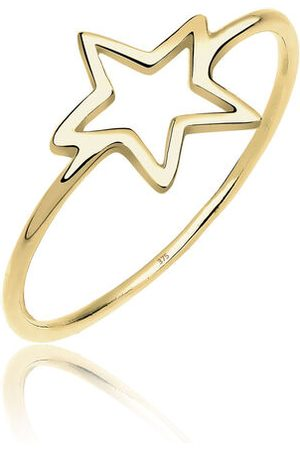 Elli Ring Stern Blogger Symbol 375 Gelbgold, , 54 mm