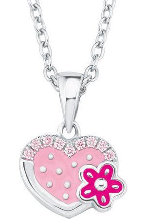 Prinzessin Lillifee Halskette Herz und Blume, Sterling Silber 925