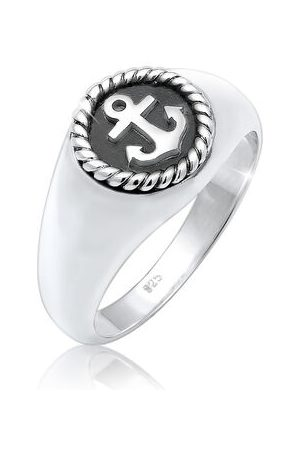 Paulo Fanello Ring Siegelring Anker Anchor Maritim Oxid 925er , 60 mm