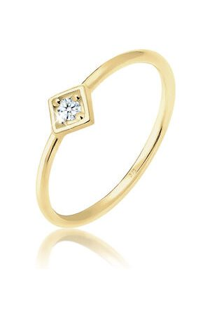 Elli Ring Verlobungsring Geo Diamant (0.03 ct.) 375 Gelbgold, , 54 mm