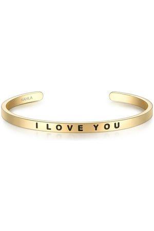 Nahla Armband I LOVE YOU Edelstahl, 50x60 mm, gelbgold, mm