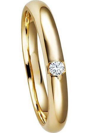 Moncara Damen Ring, 375er Gelbgold mit Brillant, 52