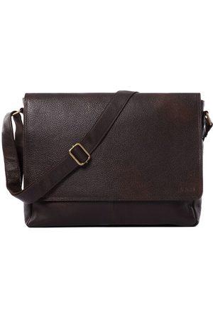 Leabags Messenger Bag Oxford, Cooper Brown