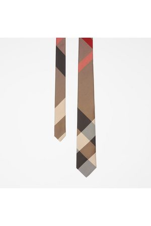 Burberry Modern geschnittene Seidenkrawatte mit extragroßen Karos