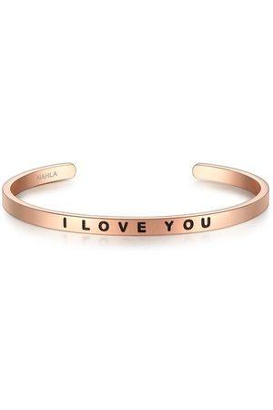 Nahla Armband I LOVE YOU Edelstahl, 50x60 mm, rosé , mm