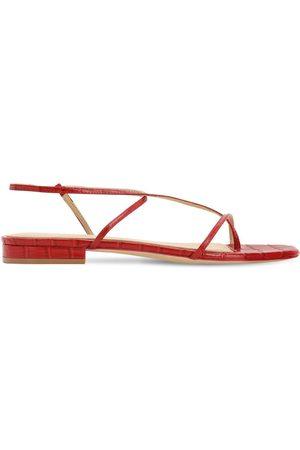 Studio Amelia 10mm Croc Embossed Leather Sandals