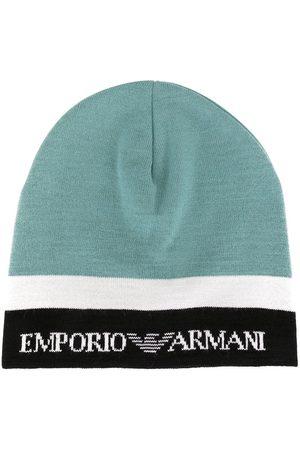 Emporio Armani Beanie in Colour-Block-Optik