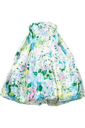 Richard Quinn Schulterfreies Kleid mit Blumen-Print
