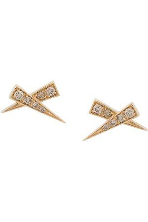 Daou Damen Ohrringe - 18kt 'Kiss' Gelbgoldohrring mit Diamanten