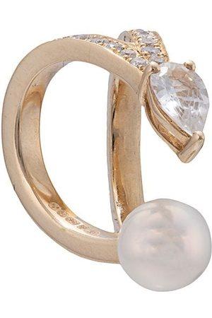 Anissa Kermiche 14kt Ear Cuff aus Gelbgold mit Diamanten-Pavé