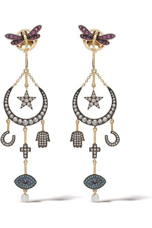 ANNOUSHKA 18kt 'Love Diamonds' Gelbgoldohrringe mit Diamanten