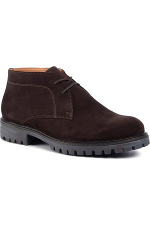 Gino Rossi Schnürschuhe - MI08-C667-658-01S Chocolate Brown