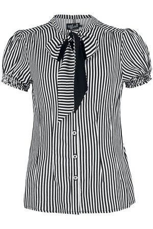 Hell Bunny Humbug Blouse Bluse /weiß