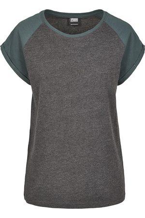Urban classics Ladies Contrast Raglan Tee T-Shirt charcoal/