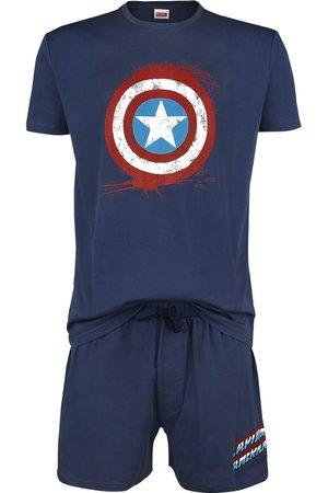 Marvel Herren Schlafanzüge - Shield Schlafanzug navy