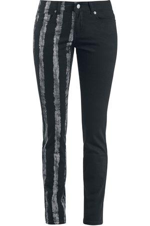 Forplay Striped Leg Stretch Denim Jeans