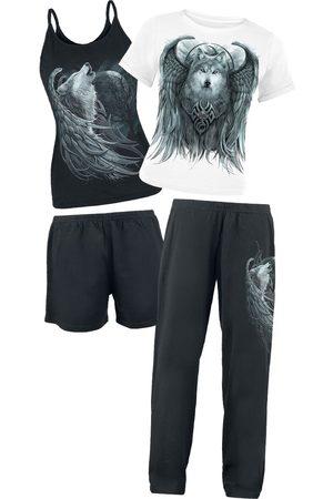Spiral Wolf Spirit Schlafanzug /weiß